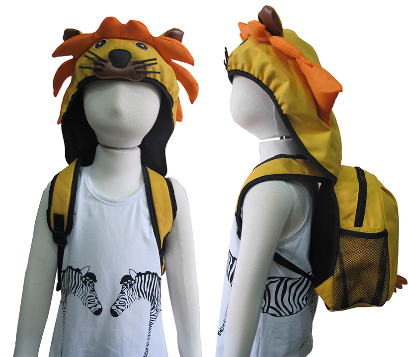 AYI-16598 Lion Backpack with Cap.jpg