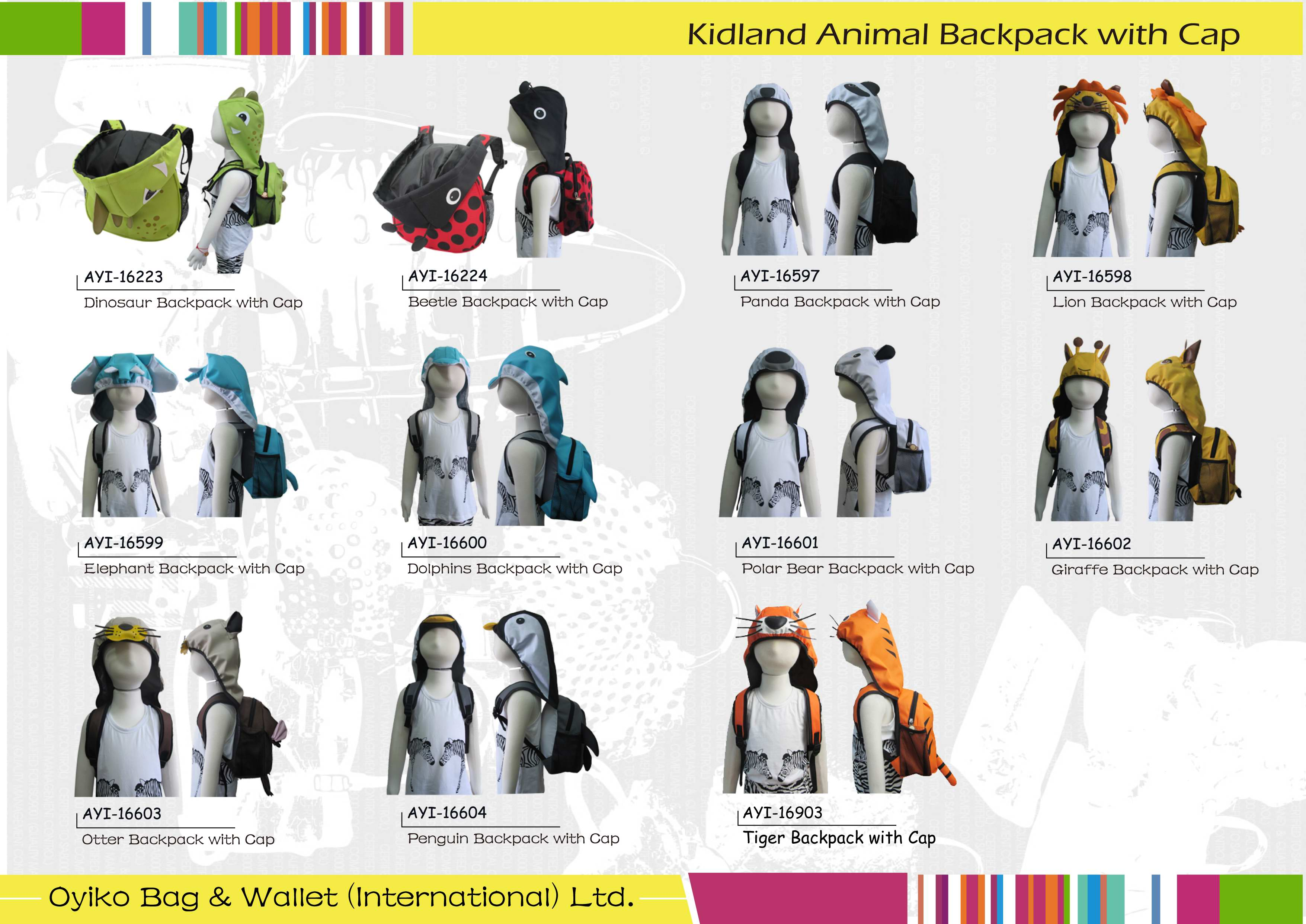 Kidland Animal Backpack with Cap.jpg